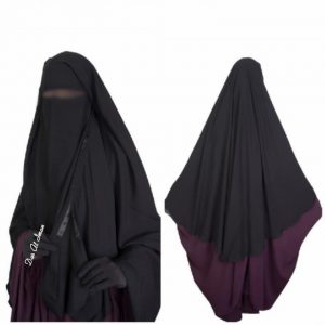 Niqab Clips 2 voiles 1m40