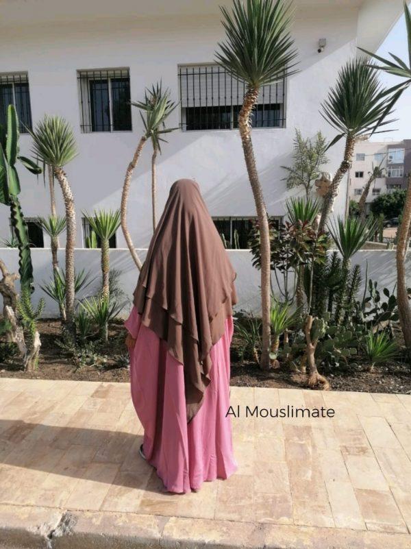 Khimar flowy 2 voiles Al Mouslimate