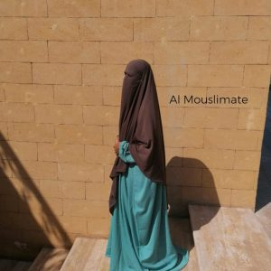 Abaya Manches Droites Caviary Vert d'eau Al Mouslimate