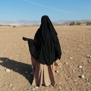 Niqab à clips 1m30