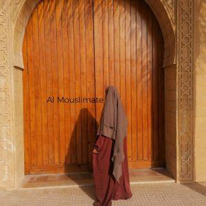 Abaya Manches Droites Terracota Al Mouslimate