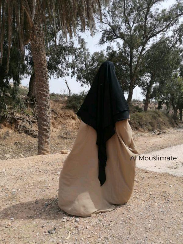 Abaya Saoudienne Beige Sable Al Mouslimate
