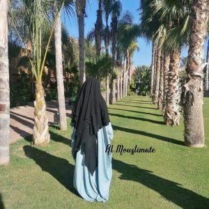 Abaya Manches Droites Bleu clair Al Mouslimate