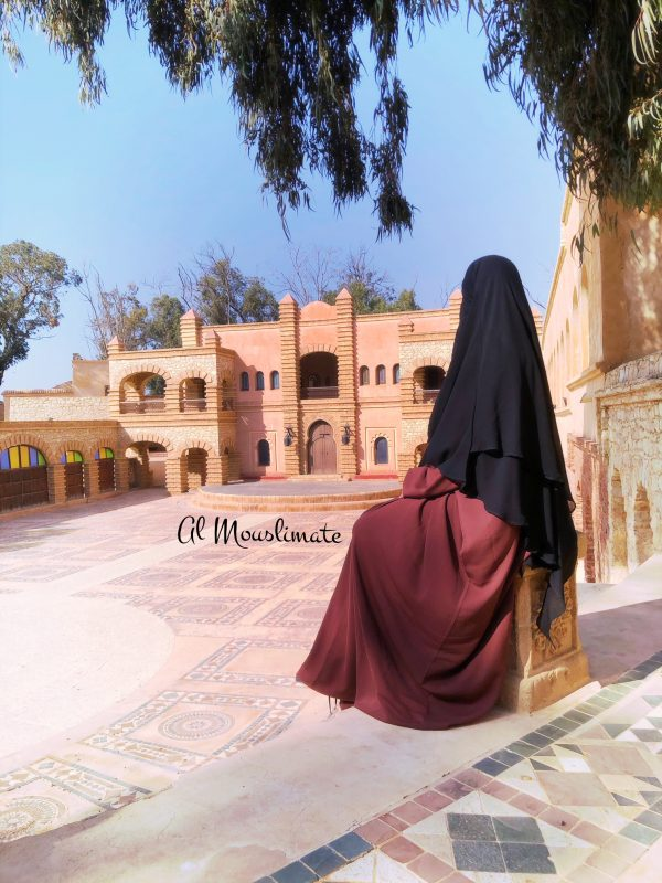 Abaya Manches Droites Caviary Terracota Al Mouslimate