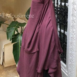 Half Niqab Bois de rose Al Mouslimate