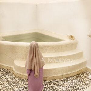 Abaya petite fille manches droites Lilas Al Mouslimate
