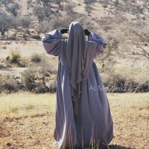 Abaya Russia Wool Peach Gris Perle Al Mouslimate